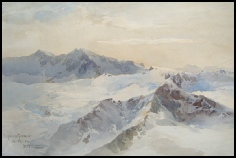 mountain paintings by Edward Theodore Compton for sale, E T Compton AlpeinerFerner (StubaiTal) from Ruderhofspitz