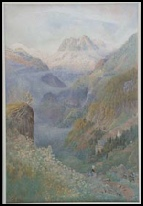 mountain paintings Mont Blanc from Finhaut by Harry Goodwin