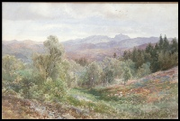 image of mountain paintings by Edward Theodore Compton for sale, mountain paintings by E.T. Compton 783