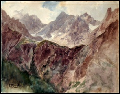 mountain paintings by Edward Theodore Compton for sale, Mountain Paintings by E.T. Compton
