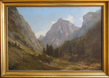 E.T. Compton Swiss Alps oil painting
