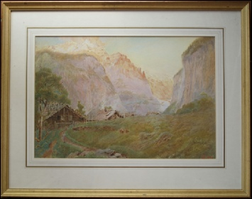 Goodwin, Harry. [1840 -1925] Lauterbrunnen and Staubach. 1898 watercolour.