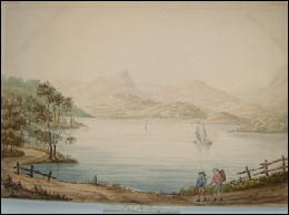 mountain paintings Zug, Lac de. c1800