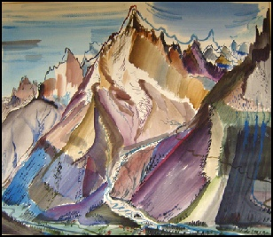mountain paintings mont blanc chamonix