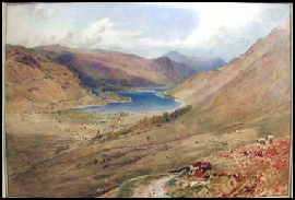 mountain paintings A bright view down onto Ullswater by Harry Goodwin