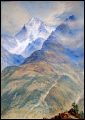 mountain paintings - paintings of the Alps - mountain paintings Monte Emilius Mountain Paintings for sale