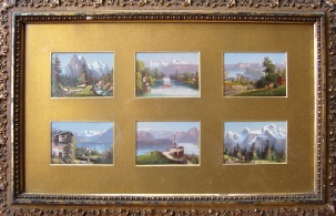Bergbildern Berner Oberland mountain paintings Lauterbrunnen paintings of the Berner Oberland
