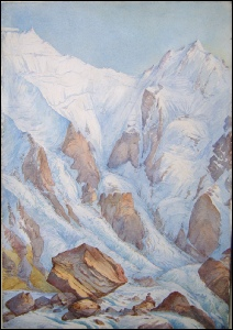 Biddulph, Lt. Gen. Sir Michael Anthony Shrapnel R.A. Nanga Parbat, Rupal Face Mountain Paintings