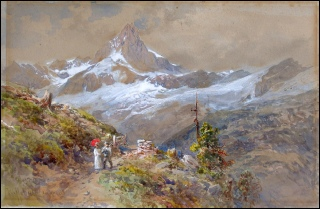 Mountain Paintings Compton, Edward Theodore. Riffelalp. (Zinalrothorn)