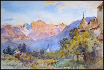 Dipinti Dolomites and Tyrol Mountain Paintings