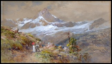 mountain art paintings by Edward Theodore Compton for sale E T Compton Riffelalp by E.T. Compton