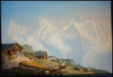 Eiger, Monch, Jungfrau Mountain Painting