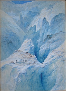mountain paintings Elijah Walton Mer De Glace