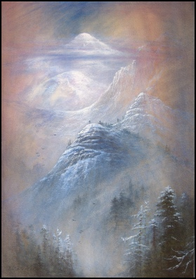 Elijah Walton mountain paintings mont blanc