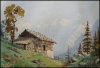 Grindelwald mountain paintings
