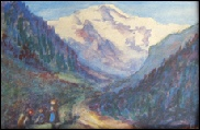 Jungfrau from Interlaken painting