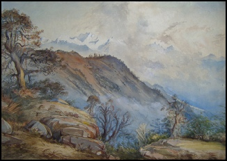 Kangchenjunga mountain paintings and the Himalaya