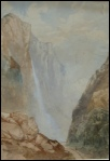 Staubach Falls looking down the valley of Lauterbrunnen mountain paintings for sale