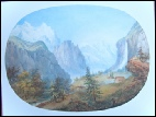Lauterbrunnen Staubach Falls mountain paintings