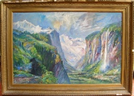 Lauterbrunnen and Staubach mountain paintings