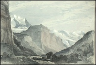 Lauterbrunnen with Breithorn painting