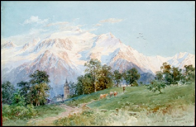 Mont Blanc-Mountain-Paintings-Monte Bianco-Arte