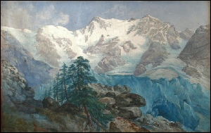 Monte Rosa dipinti, Mont Rose, tableaux, George Barnard