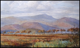 Mountain Paintings Cader Idris across the Barmouth Estuary watercolour painting Fripp, George Arthur. [1813-1896] attrib. c1870