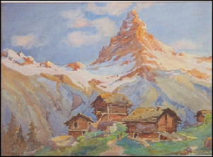 Mountain Paintings The Matterhorn - Evening. (from Riffelalp) Blampied, Clifford George [1878-1941] c1920?
