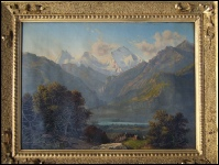 Mountain Paintings of Eiger, Monch and Jungfrau from Interlaken