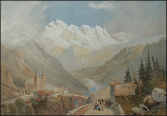 Mountain Paintings Rowbotham, T.L. after Pass of the Brenner.