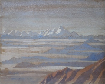 T.H. Somervell EVEREST watercolour mountain paintings