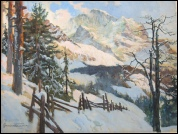 Jungfrau Wengen mountain paintings