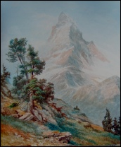 The Matterhorn from Riffelberg. Winder, Sidney P. 1913 watercolour painting