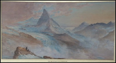 mountain paintings The Matterhorn, from the Gornergrat, by George Barnard  artist.