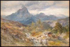 mountain paintings by Edward Theodore Compton for sale, The Uppspitze Mountain Paintings by E.T. Compton