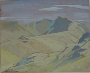 mountain paintings by Theodore Howard Somervell Sgurr Thuilm from Streap.