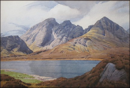 W. Heaton Cooper Skye mountain paintings