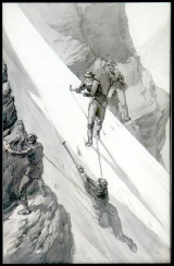 mountain paintings - mountain paintings, mountaineering in the Alps mountain paintings, tableaux, dipinti