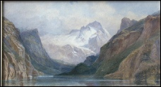 mountain paintings by Edward Theodore Compton for sale