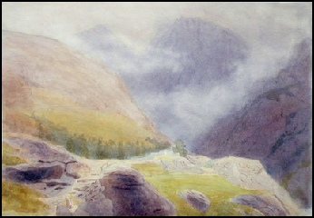 mountain painting of the Cuillin of Skye