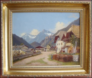 paintings of the Dolomites for sale, Dorf Taufers Tirol dipinti dolomiti mountain paintings