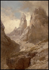dolomite mountain art paintings by E T Compton for sale