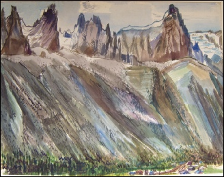 mountain paintings mont blanc chamonix sam haille artist