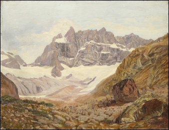 mountain paintings Meije in Dauphine