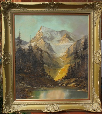 mountain paintings Weisshorn