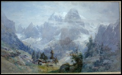 image of mountain paintings by Edward Theodore Compton