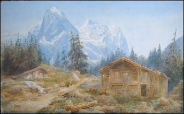 mountain paintings of Bergbildern Berner Oberland mountain paintings Wellhorner Rosenlaui