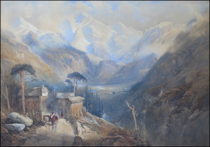 mountain paintings vallais mont rosa zermatt