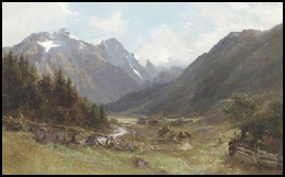 Gschnitz(thal) with SchoneGrube and Kasterbg. South of Innsbruck. by E.T. Compton